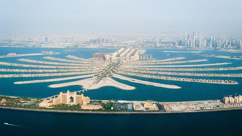 Mapa de Dubai: Palm Jumeirah