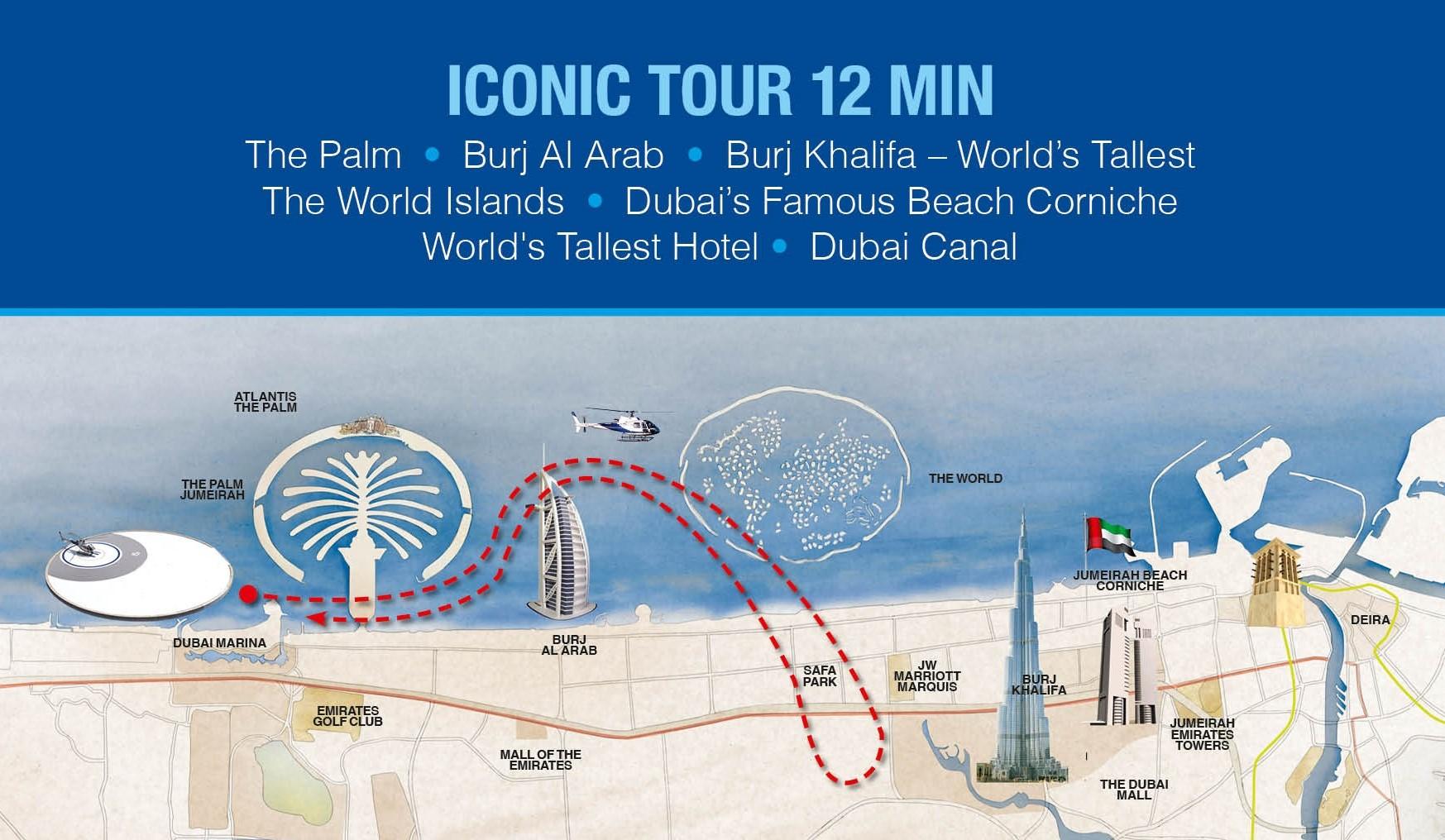 Helicóptero Dubai Iconic