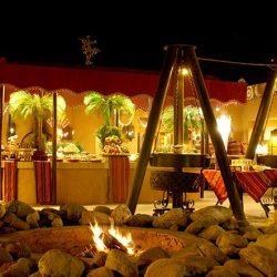 Tradicional cena árabe en Bab Al Shams