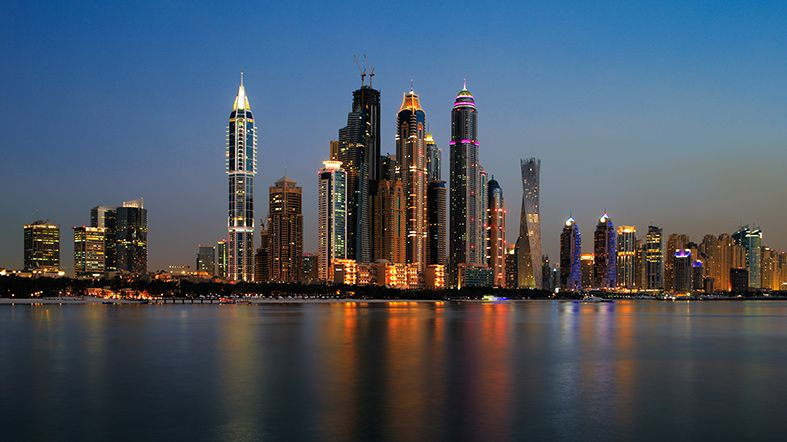 Dubai Marina Nocturno - See Dubai Tours