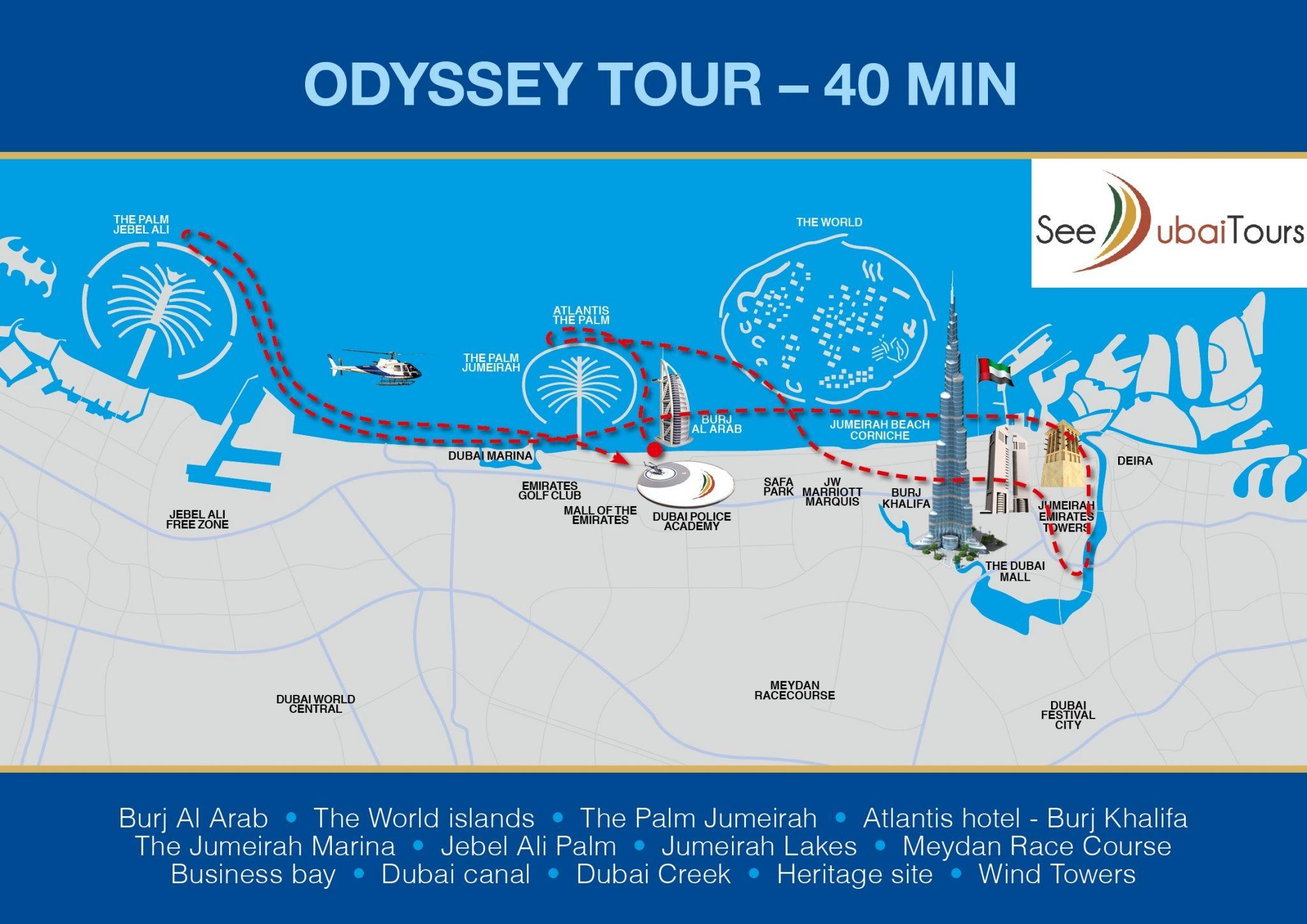 Helicóptero Dubai Odyssey