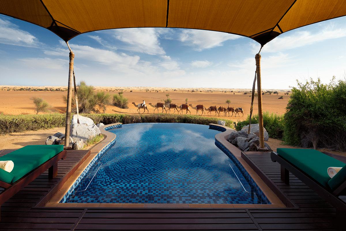 Al Maha vistas desierto